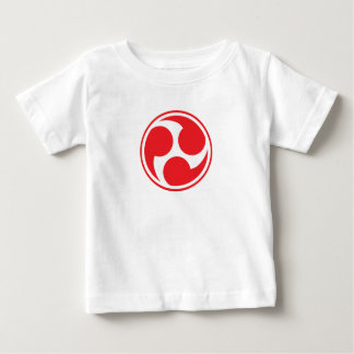 Red Taiko Mitsudomoe Baby T-Shirt