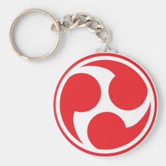 Red Taiko Mitsudomoe Keychain