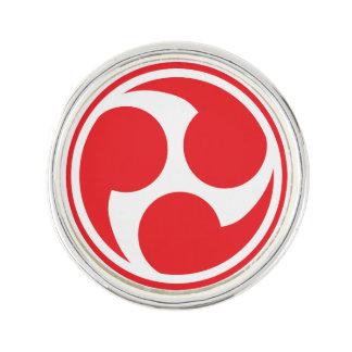 Red Taiko Mitsudomoe Lapel Pin