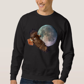 Red-Tail Hawk & Full Moon Wildlife Shirt