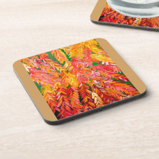"""""""Red Tail Orchids Coasters For Favorite Beverages"""