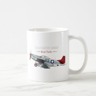 Red Tail P-51 Mustang of the Tuskegee Airmen Coffee Mug