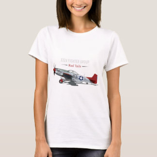 Red Tail P-51 Mustang of the Tuskegee Airmen T-Shirt