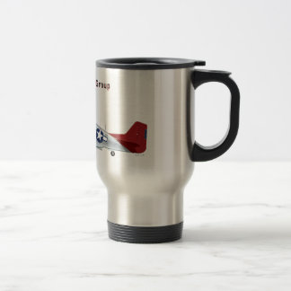 Red Tail P-51D Mustang of the 332d Fighter Group Travel Mug