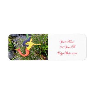 red-tail sirena mermaid return address label