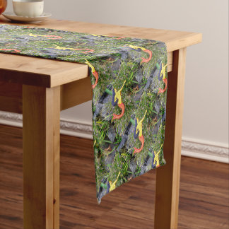 red-tail sirena mermaids green short table runner