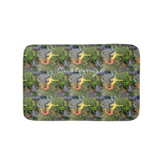 red-tail sirena mermaids pattern bathroom mat