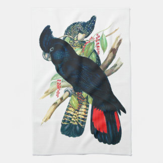 Red tailed, Black (Banksian) Cockatoos. Kitchen Towel
