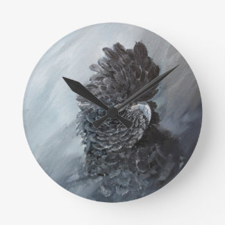 Red Tailed black Cockatoo gifts Wall Clocks