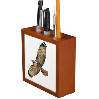 Red Tailed Hawk Bird Wildlife Desk Organizer