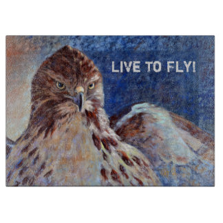 Red Tailed Hawk Cutting Board
