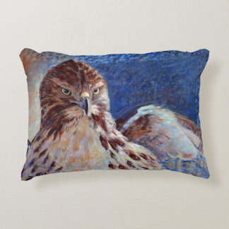 Red Tailed Hawk Decorative Pillow
