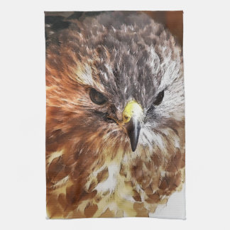RED TAILED HAWK KITCHEN TOWEL