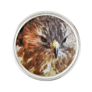 RED TAILED HAWK LAPEL PIN