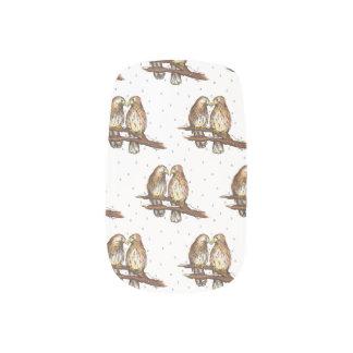 Red-Tailed Hawk Lovebird Snow Christmas Holiday Minx Nail Art