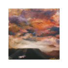 Red-Tailed Hawk over mesas wrapped canvas print