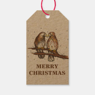 Red-Tailed Hawks Central Park Birds Christmas Tags Pack Of Gift Tags