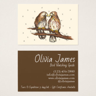 Red-Tailed Hawks Love Bird Watching Snow Winter Business Card