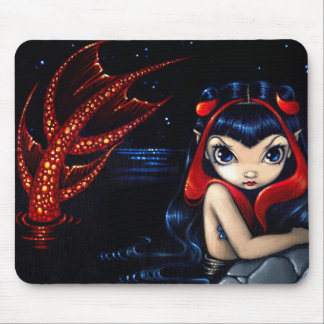 """""""Red Tailed Mermaid"""" Mousepad"""