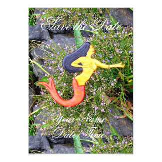 red-tailed sirena mermaid magnetic invitations