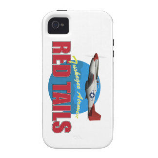 Red Tails Tuskegee Airmen with P-51 Vibe iPhone 4 Cases