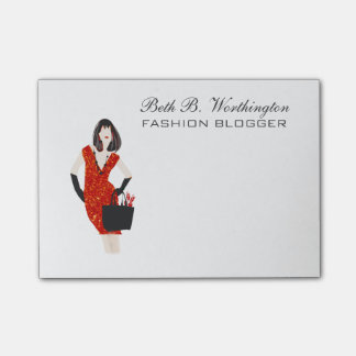 Red Talks Louder Stylist Fashion Model Elegant Post-it® Notes