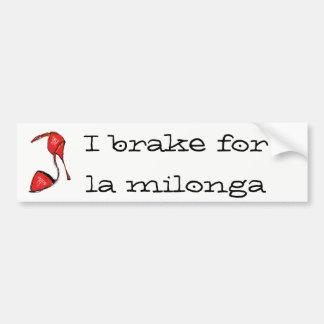 Red Tango Shoe Bumper Sticker