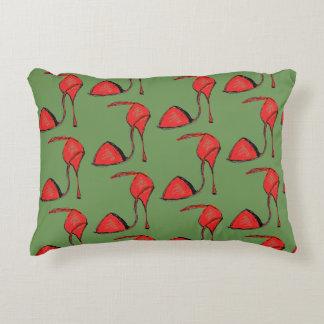 Red tango Shoe Pillow, Green back Decorative Pillow