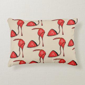 Red Tango Shoe Pillow, Tan back Accent Pillow