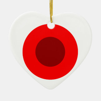 Red Target Ceramic Heart Ornament