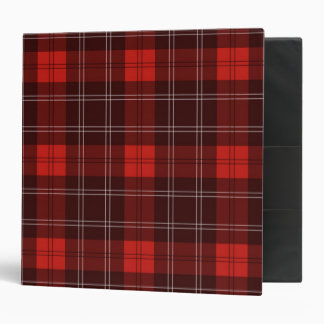 Red Tartan 3 Ring Binders