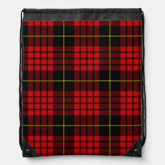 Red Tartan Drawstring Backpack
