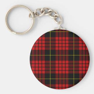Red Tartan Keychain