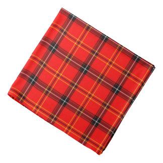 Red Tartan Pattern Plaid Neckerchief/Hair Tie Kerchief