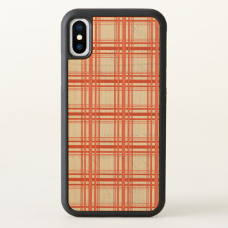 Red Tartan Plaid Checker iPhone X Case