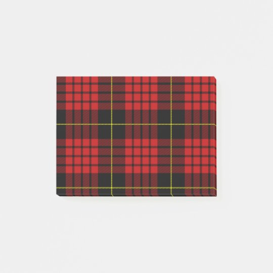 Red Tartan Post-it® Notes