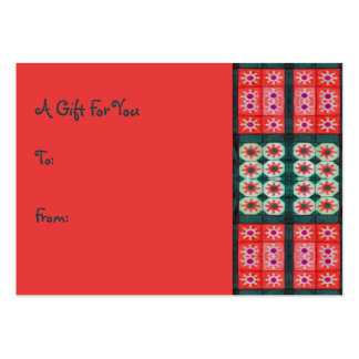 Red Teal Gift Tags Large Business Card