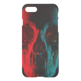 red-Teal Human Skull iPhone 8 case