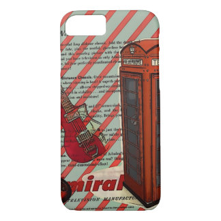 Red Telephone Band Rock n Roll Electric Guitar iPhone 8/7 Case