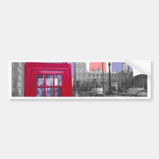 Red Telephone Big Ben Bumper Sticker