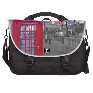 Red Telephone Big Ben Laptop Messenger Bag