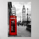 Red Telephone Big Ben London Landscape Poster