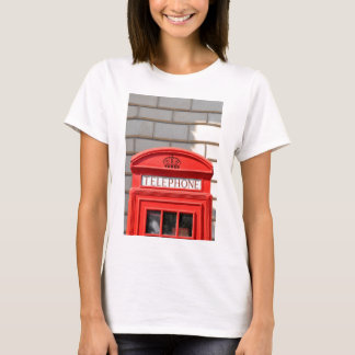 Red telephone boot in London T-Shirt