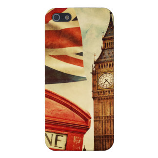 Red telephone booth and Big Ben in London, England iPhone 5/5S Case