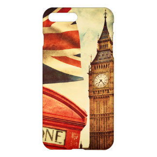 Red telephone booth and Big Ben in London, England iPhone 7 Plus Case