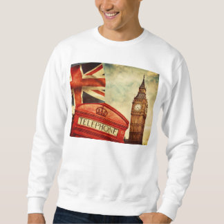 Red telephone booth and Big Ben in London, England Sweatshirt