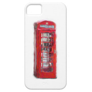 Red Telephone Booth Art Hand Painted iPhone 5 Case