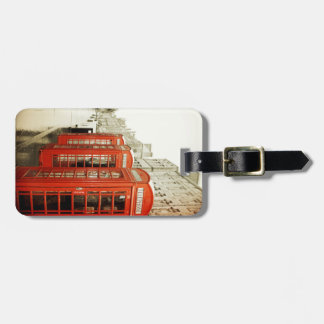 red telephone booths luggage tag