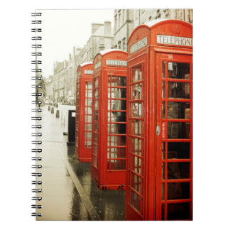 Red telephone booths notebook