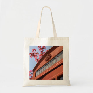 Red telephone box tote bags